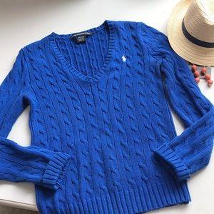 Ralph Lauren Sport szM blue cable knit sweater